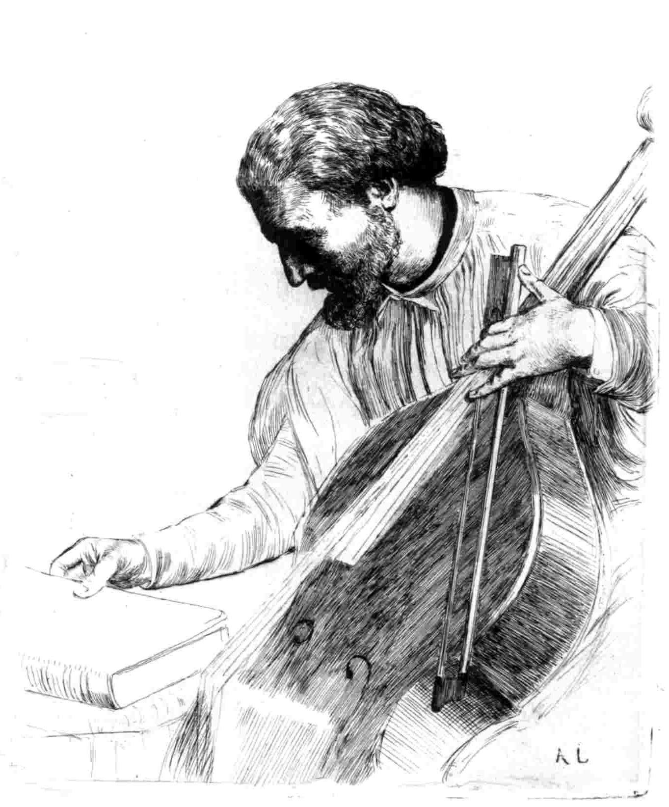 A 19th-century Double Bassist